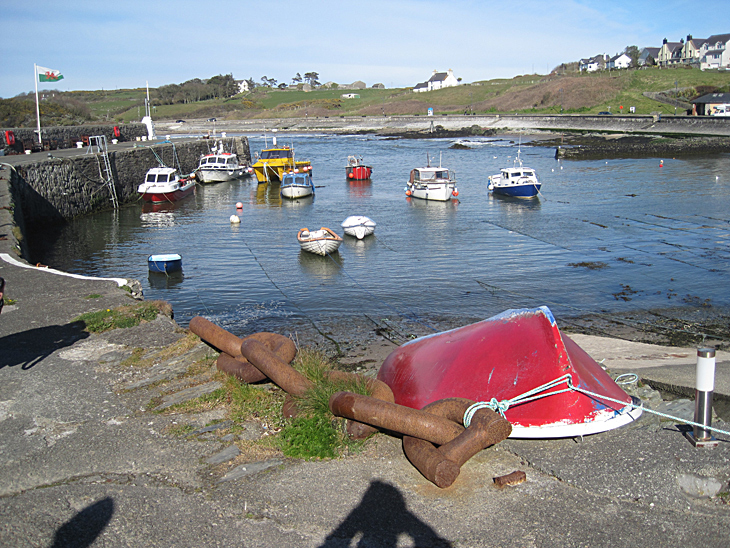 Boats in Cemaes Bay harbour