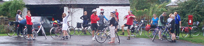 Beano cyclists in Shropshire
