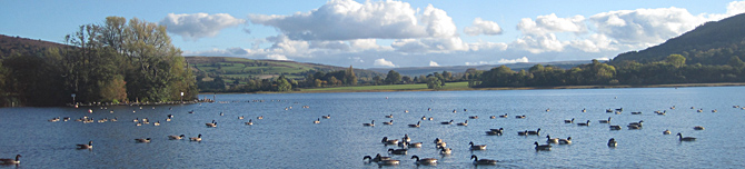 Llangorse Lake, Brecon Beacons National Park, Wales