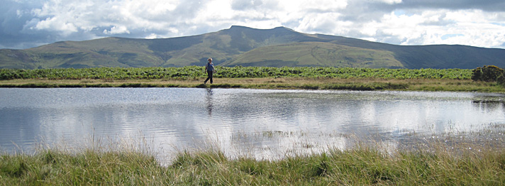 Jane walking in the Brecon Beacons National Park
