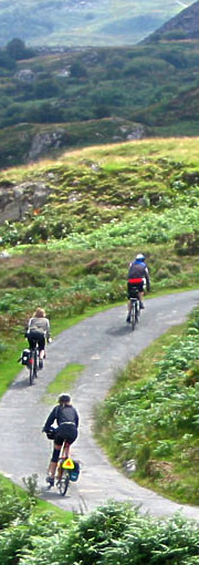 Cycling in the Snowdonia National Park, North Wales