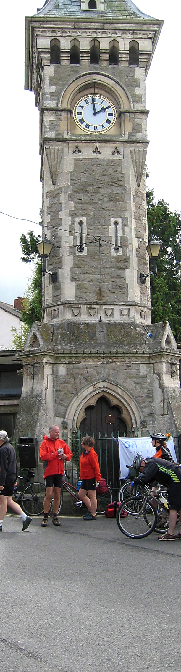 The clocktower in Hay-on-Wye